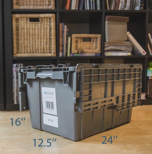 box with dimensions skinny