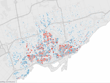 Toronto map for lead