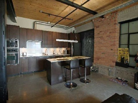 Over 1,400 sqft of authentic loft living near Leslieville.