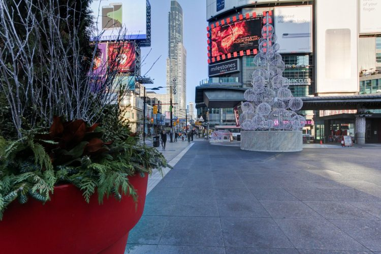 Yonge Dundas Square Holiday Display
