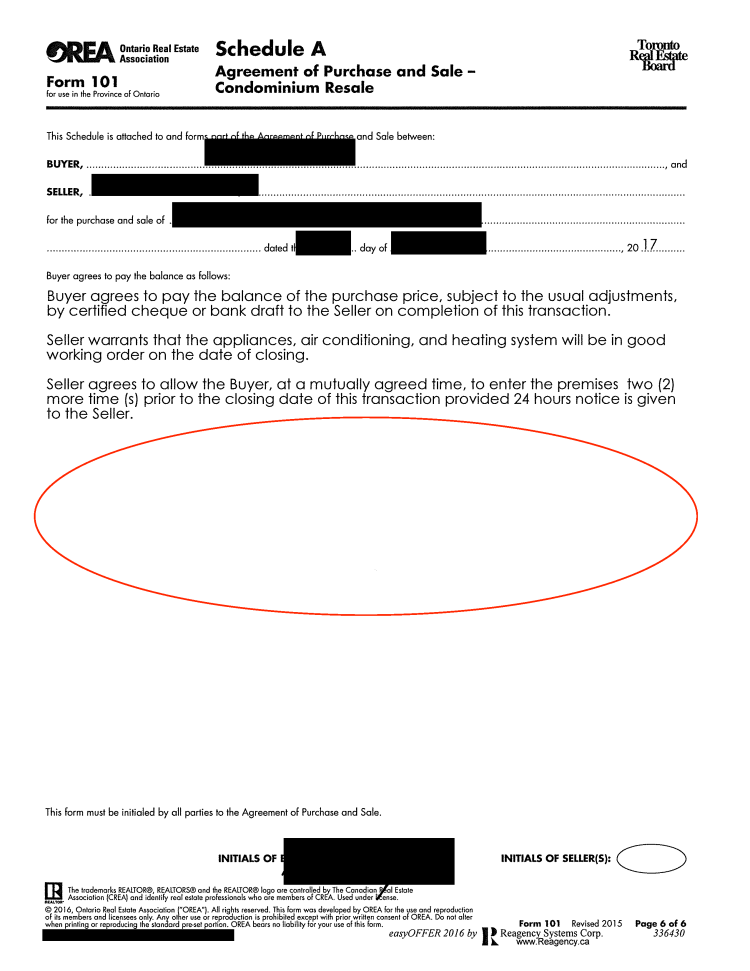 Sloppy real estate offer paperwork page 6