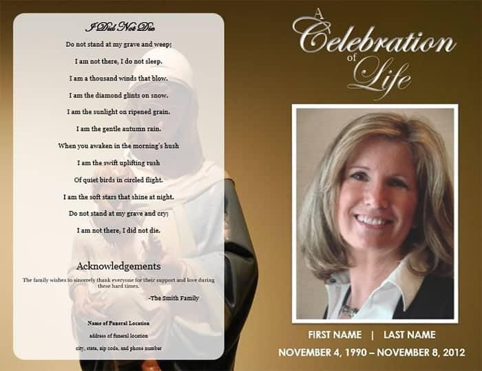 Funeral program image 3