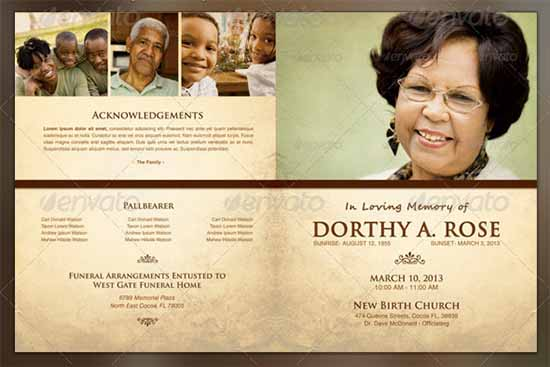 Obituary Program Template. Funeral Program Image Free Funeral ...