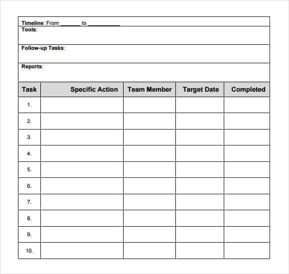 How to make Action plan in Word Archives - Word Templates