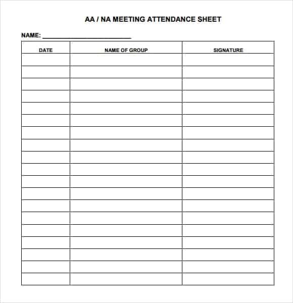 9 attendance sheet templates word excel pdf formats. Black Bedroom Furniture Sets. Home Design Ideas