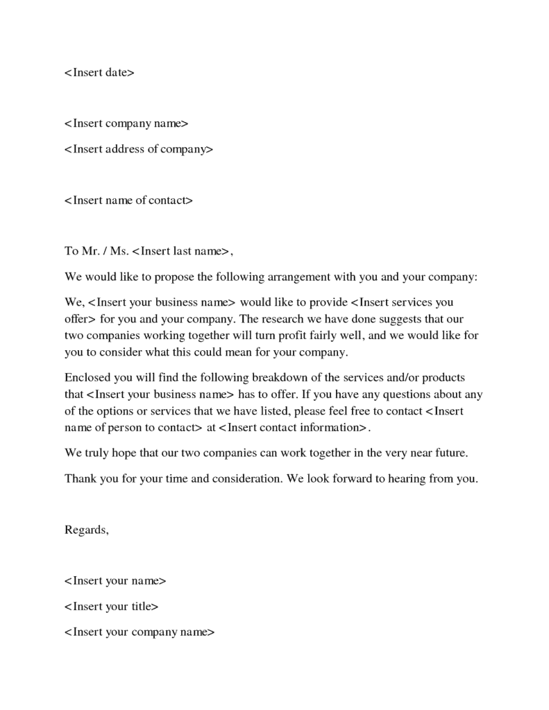 Free Sample Business Proposal Letter. Business Proposal Letter 2  Free Business Proposal Samples