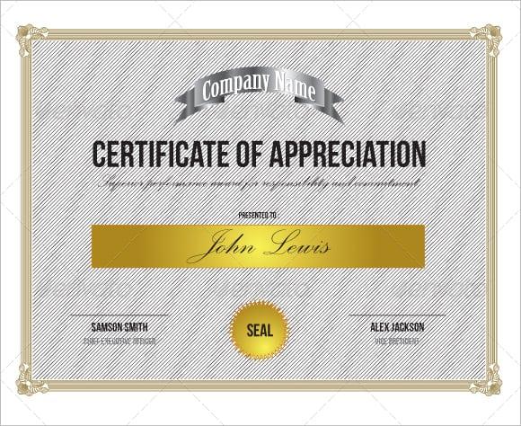 certificate of appreciation sample certificate of appreciation image 5