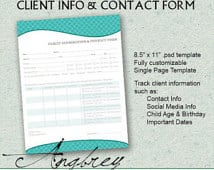 customer contact form template