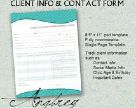 8 Client Information Sheet Templates Word Excel PDF Formats – Customer Contact Form Template
