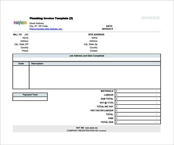 contractor invoice form
