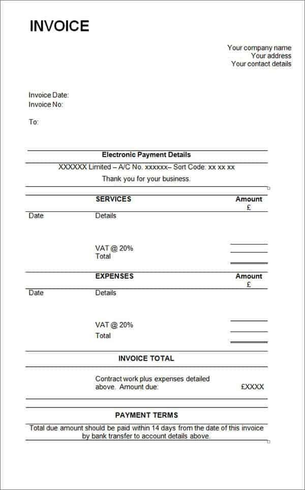 Contractor Invoice 8  Sample Contractor Invoice