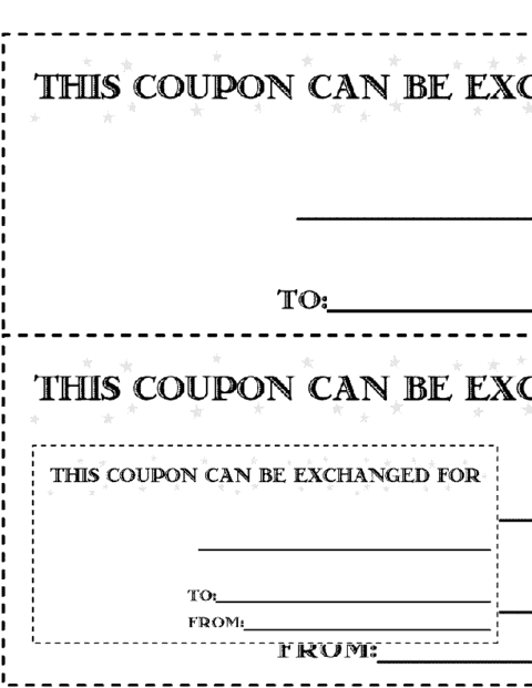 Captivating Coupon Image 7 For Coupon Template Word