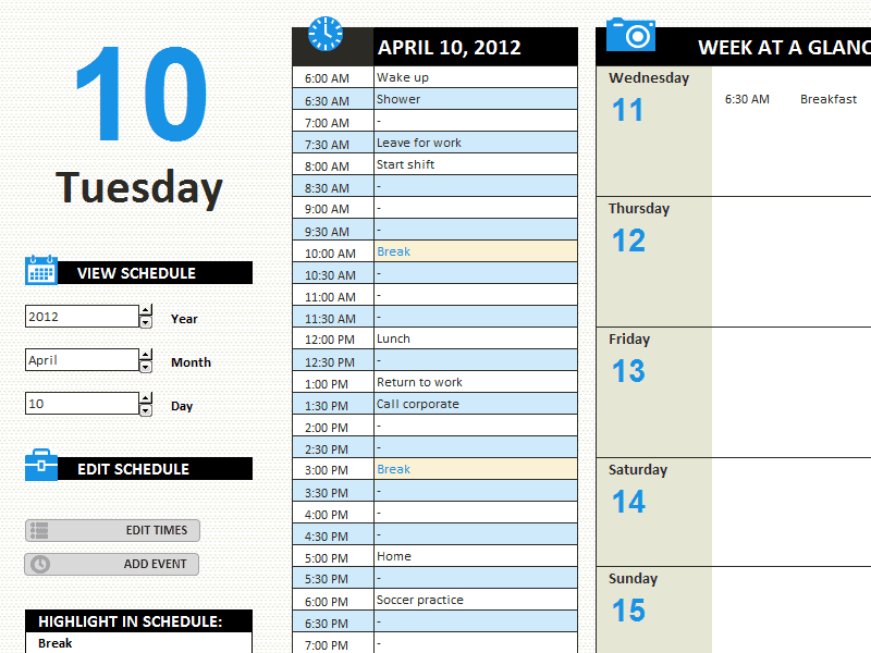 8+ Daily work log templates - Word Excel PDF Formats