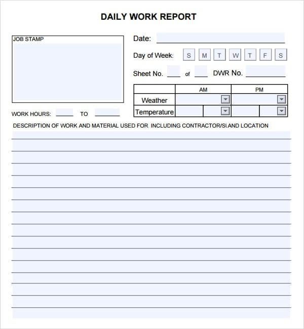 Daily Report Sheet Alum Northeastfitness Co