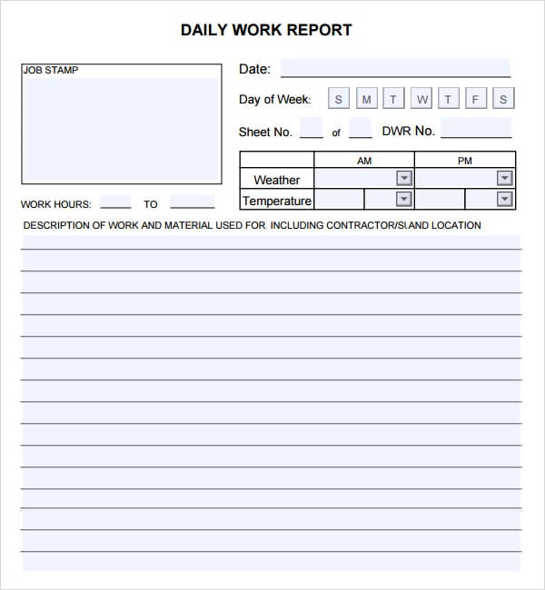 10 daily report templates word excel pdf formats