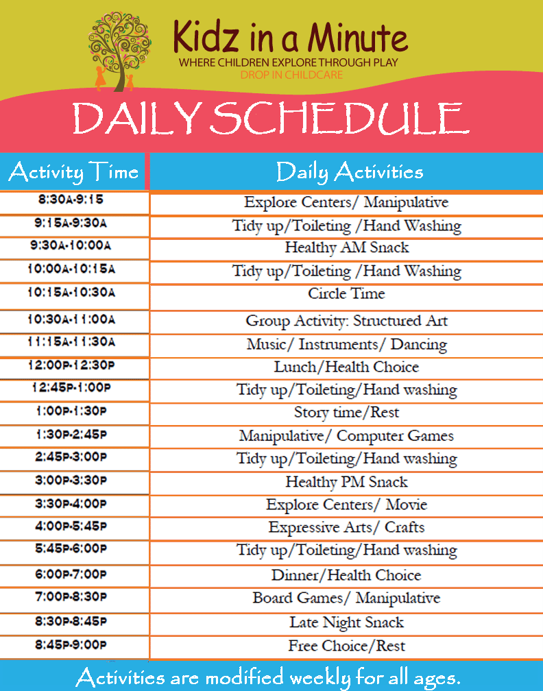 daily schedule iamge 11