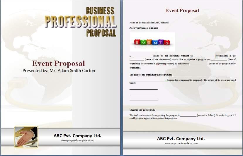 business event program template