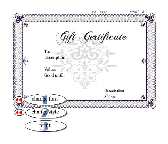 10 gift certificate templates word excel pdf formats fancy gift certificate template yadclub Images