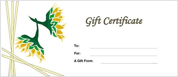 Gift Certificate Tempalte  Gift Certicate Template