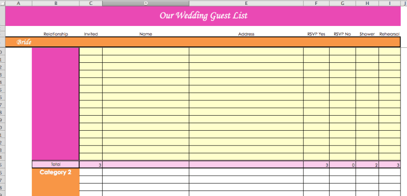 wedding guest list print out