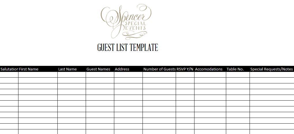 Wedding guest list sample zrom wedding guest list template excel examples and forms maxwellsz