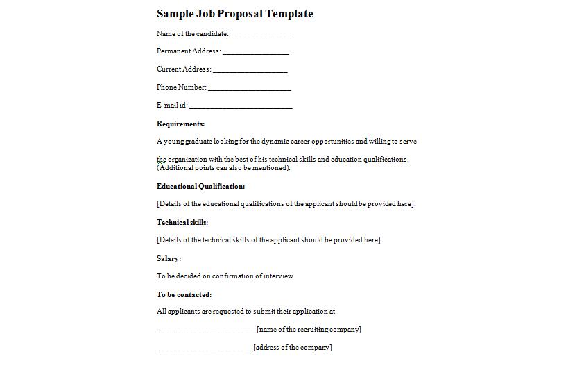 job proposal 123
