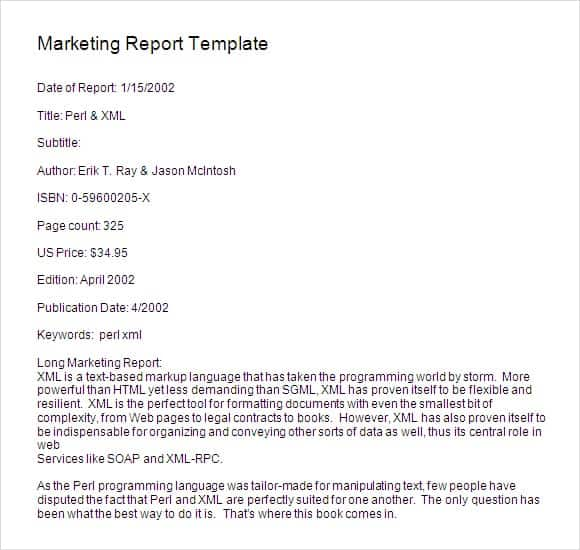 8 marketing report templates word excel pdf formats