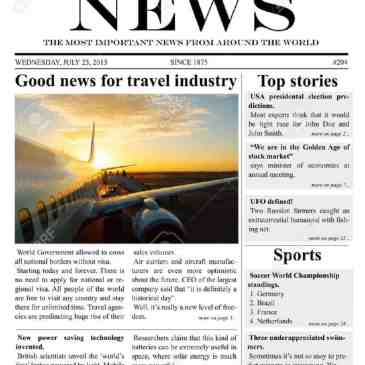 Company Newspaper Template Archives Word Templates