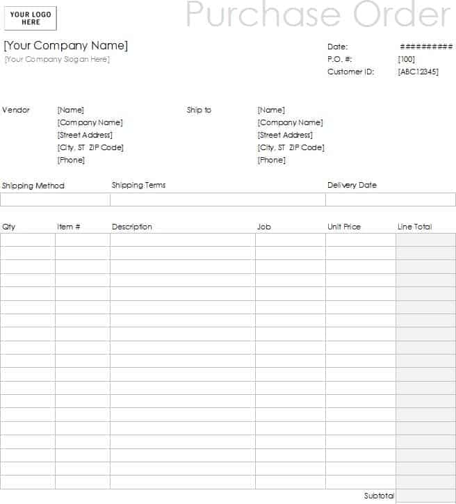 11 Sample order form templates Word Excel PDF Formats – Order Form Template Microsoft