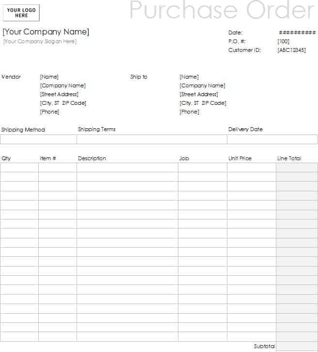 11 Sample Order Form Templates Word Excel Pdf Formats