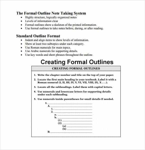 Outline Templates  Word Excel Pdf Formats