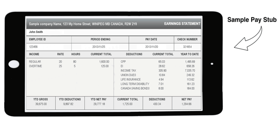 free pay stub template download