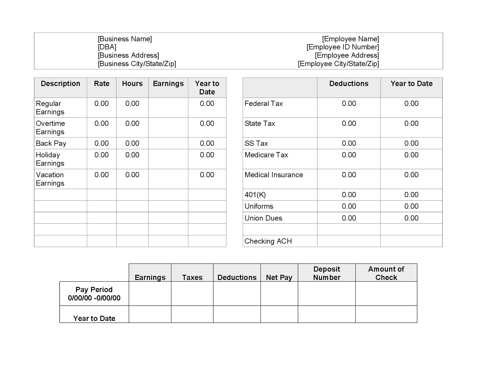 salary pay stub generator