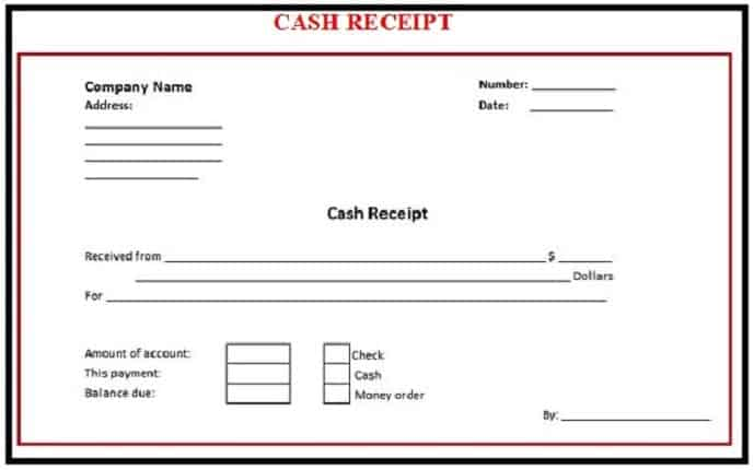 Editable payment receipt template