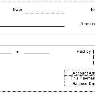 printable payment receipt template archives word templates
