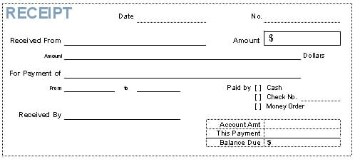 Attractive 8+ Payment Receipt Templates Intended Loan Payment Receipt Template