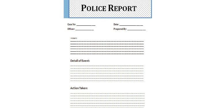 word police report