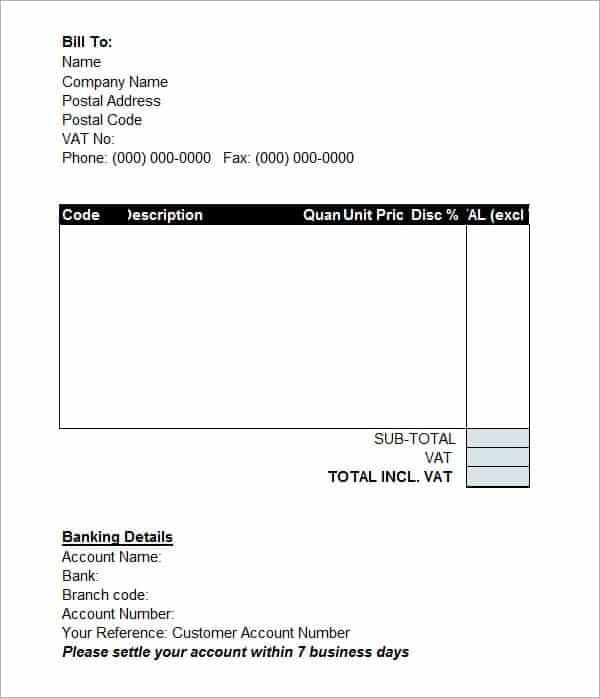 Proforma Invoice Templates Word Excel PDF Formats - What is a proforma invoice for service business