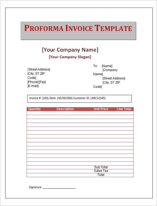 Sample Invoices Archives - Word Templates