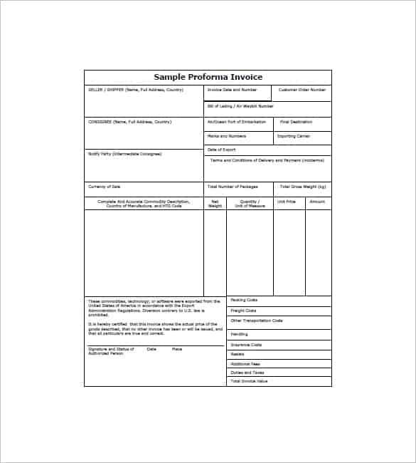 proforma invoice image 6