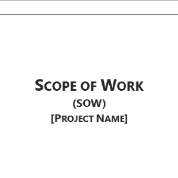 it project scope of work template - word construction scope of work template archives word