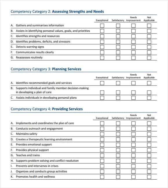 Skills Assessment Guide Complete Sample