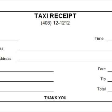 Professional Taxi Receipt Template Archives Word Templates