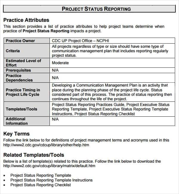 Status Report Template Excel  Daily Status Report Template Event