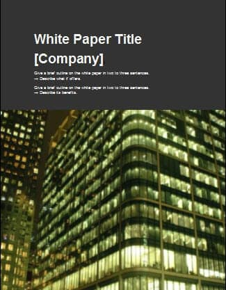 campaign literature templates - 8 white paper design templates word excel pdf formats