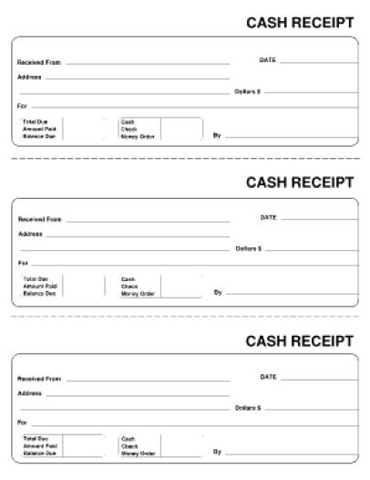 cash receipt template 4