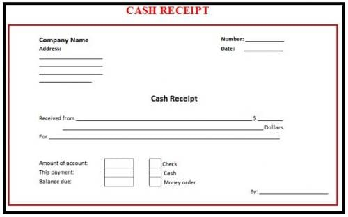 Cash Receipt Templates  Word Excel Pdf Formats