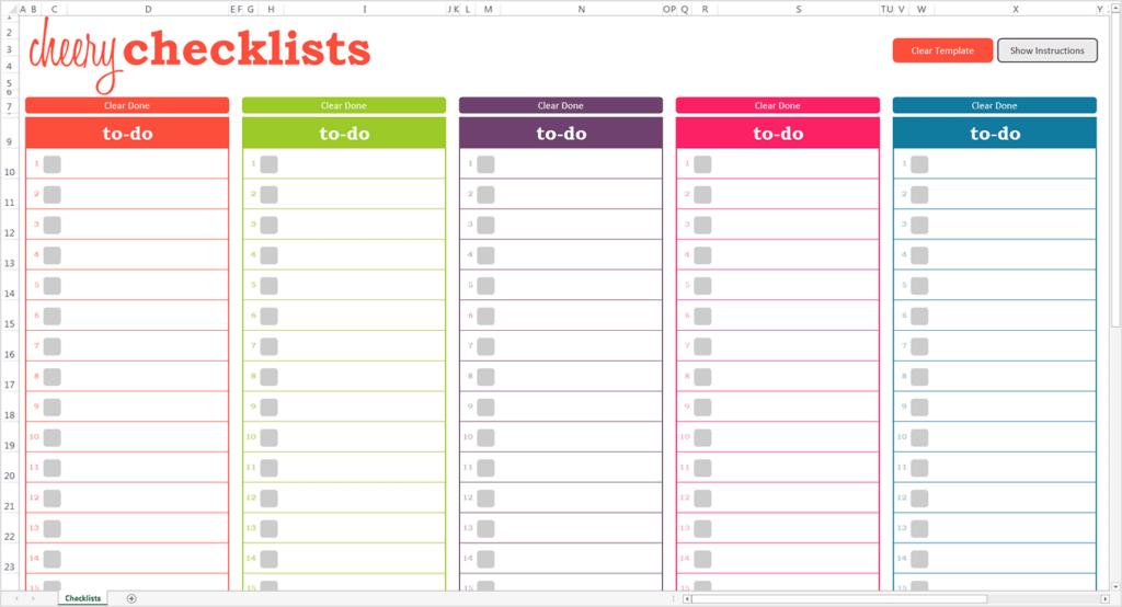 editable checklist template word