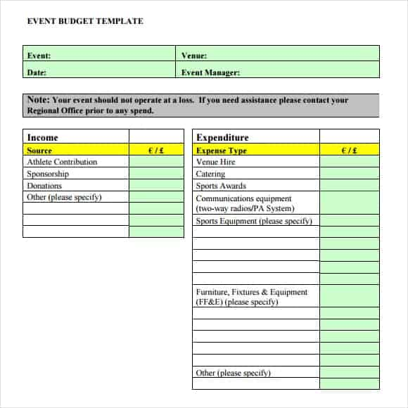 Event Budget Templates  Word Excel Pdf Formats