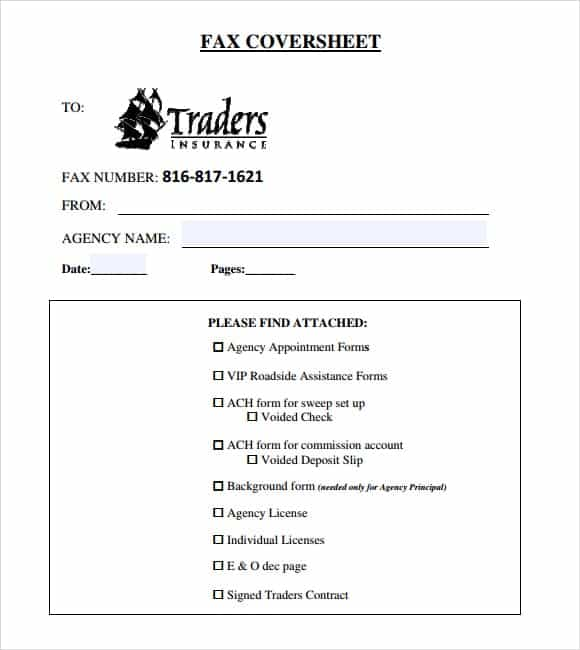 fax cover sheet template 10